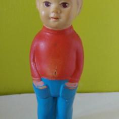 Jucarie romanesca papusa Aradeanca baietel, anii'60-70, 15cm