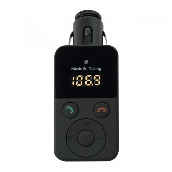 Car Kit si Modulator FM cu bluetooth, Sal FMBT 30, redare MP3/WMA, telecomanda foto mare