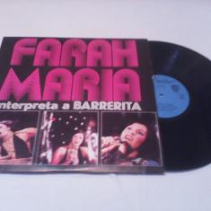 DISC VINIL LP FARAH MARIA-INTERPRETA A.BARREITA RARITATE!!!!1970 CUBA - Muzica Latino