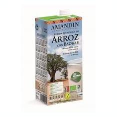 Bautura Vegetala Bio de Orez cu Baobab Amandin 1L Cod: 400061