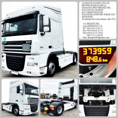 CAP TRACTOR SECOND-HAND DAF XF 105.460 EEV, EURO 5-LEASING-CREDIT-SI FIRME NOI - Camion