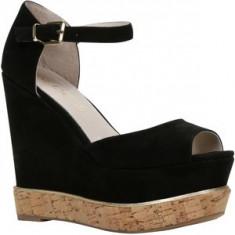 Sandale pantofi platforma Aldo piele naturala - zara guess - Sandale dama Aldo, Culoare: Negru, Marime: 38