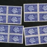 Lp 226 - Recensamantul - 4 blocuri de 4 - Timbre Romania, An: 1948, Nestampilat