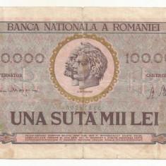 ROMANIA 100000 100.000 LEI 25 ianuarie 1947 [9] BNR vertical - Bancnota romaneasca