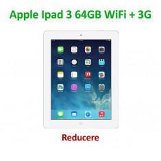 iPad 3 64 GB Wi-Fi + 4G la cutie + accesorii - culoarea alb