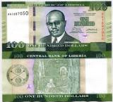 !!!  LIBERIA  -  100  DOLARI  2016  - P NEW - UNC