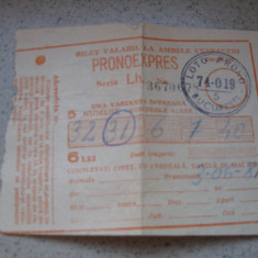 Bilet de loterie (pronoexpres), 3 iunie 1981