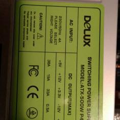 Sursa Delux 500W + carcasa ATX alba - Sursa PC