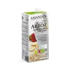 Bautura Vegetala Bio de Orez cu Banane si Capsuni Amandin 1L Cod: 400058