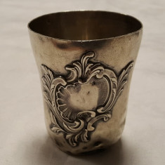 PAHAR argint 150 ml MASIV rococo PARIS 1900 FRANTA patina minunata MARCAJE vechi, Pahare
