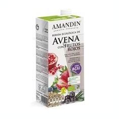 Bautura Vegetala Bio de Ovaz cu Fructe Rosii Amandin 1L Cod: 400084