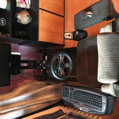 Volan Logitech G27RacingWheel +scaun simulator+monitor+pc optimizat+Logitech 5.1