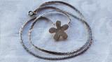 Medalion argint MARGARETA splendid Finut Delicat vintage Superb pe Lant argint