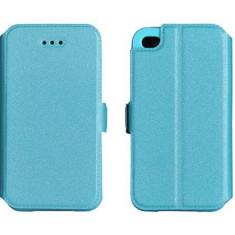 Husa Huawei Y3 II Flip Case Inchidere Magnetica Blue - Husa Telefon Huawei, Albastru, Piele Ecologica, Cu clapeta, Toc