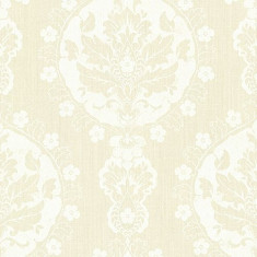 Rola tapet Lourdes Damask Medallion - Champagne 53 cm x 10 m