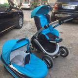 Carucior 2 in 1 - Carucior copii 2 in 1, Albastru