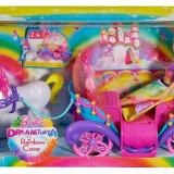 Papusa Mattel Barbie cu trasura curcubeu - OKAZIE