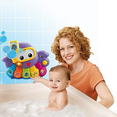 Jucarie de baie muzicala caracatita cu baloane de sapun, Vtech
