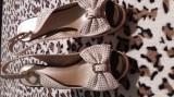 Sandale din piele dama, 38, Crem, Campri