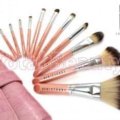 Set 12 pensule machiaj Pink Premium Fraulein38 - Pensula machiaj
