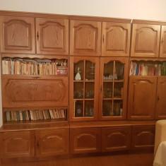Mobila living lemn masiv retro! Stare foarte buna! - Biblioteca living