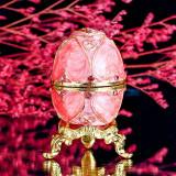 Caseta bijuterii - Ou Faberge /Mărțișor /Unicat /Cutie/Pietre prețioase