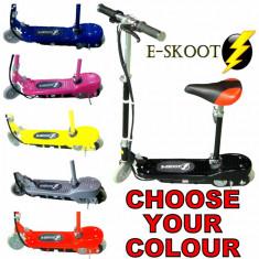 Trotineta electrica E-scoot cu scaun 120W silver