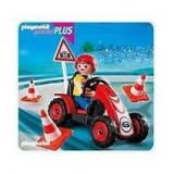 Baiat si cart de curse Playmobil - Vehicul