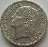 Moneda 5 Franci - FRANTA, anul 1947 *cod 3412 Allu.