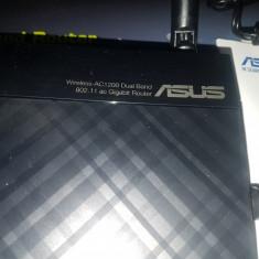 Router Wireless ASUS AC1200G Plus, Dual-Band, Gigabit - poze reale, Port USB, Porturi LAN: 4, Porturi WAN: 1