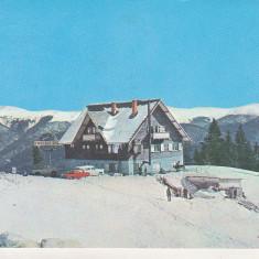 Bnk cp Sinaia - Cota 1300 - Cabana Bradet - circulata - marca fixa - Carte Postala Muntenia dupa 1918, Printata