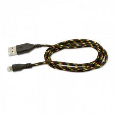 Cablu de date iPhone 4/4S, iPod, 3 m panzat diverse culori