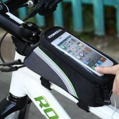 Borseta bicicleta cu husa telefon impermeabila 5.5 inch Roswheel