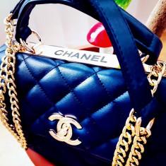 GENTI FIRMA, CALITATE SUPERIOARA/FRANTA/LOGO AURIU/FRANCE/NEW MODEL - Geanta Dama Chanel, Culoare: Bleumarin, Marime: One size