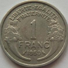 Moneda 1 Franc - FRANTA, anul 1959 *cod 628 Allu., Europa, Aluminiu