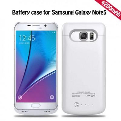 Baterie extinsa alba  4200 mah backup Samsung Galaxy Note 5 foto