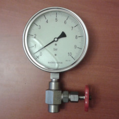 Manometru presiune cu robinet