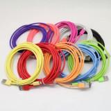 Cablu de date pentru iPhone 5/6/7 diverse culori 3 m