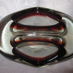 SCRUMIERA CRISTAL COLORAT / STICLA DE MURANO 15 CM - Scrumiera sticla