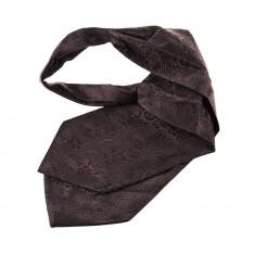 Cravata ascot neagra costum