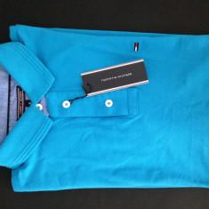 Tricou Tommy Hilfiger - Tricou barbati Tommy Hilfiger, Marime: 40, Culoare: Albastru