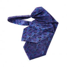 Cravata ascot bleumarin violet