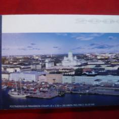 Carnet Prezentare a Seriei de timbre 450 Ani Helsinki -2000 Finlanda , 8 val.