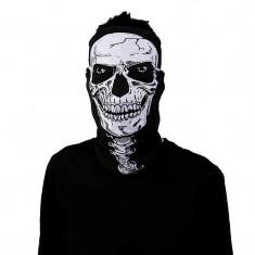 BANDANA CU CAP DE MORT cagula schelet skelet PAINTBALL AIRSOFT MOTO masca skull