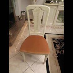 Set de mobila pentru sufragerie (masa, scaune, oglinda, Dressoir) - Set mobila living