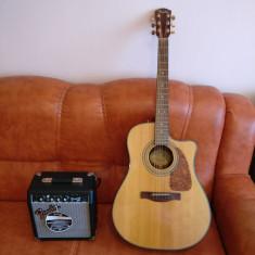Chitara Electro-Acustica Fender Cd-220Sce + amplificator Frontman 10g - Chitara acustica