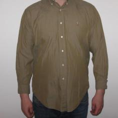 Camasa Originala POLO by Ralph Lauren MARIMEA - XL - ( cu maneca lunga ) - Camasa barbati Ralph Lauren, Culoare: Khaki