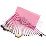 Trusa 20 Pensule machiaj Fraulein38 Pink Candy set pensule machiaj profesional
