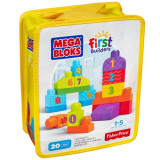 Set de Construit Numere 20 de Piese Mega Bloks - Scule si unelte