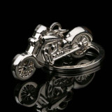 Breloc metalic argintiu caltitativ MOTOCICLETA + cutie simpla cadou